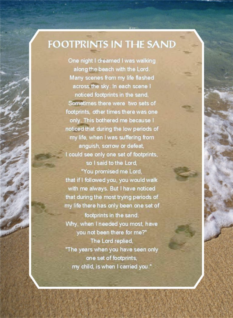 Footprints in the sand quotes like success